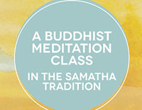 Samatha Trust Oxford meditation classes poster