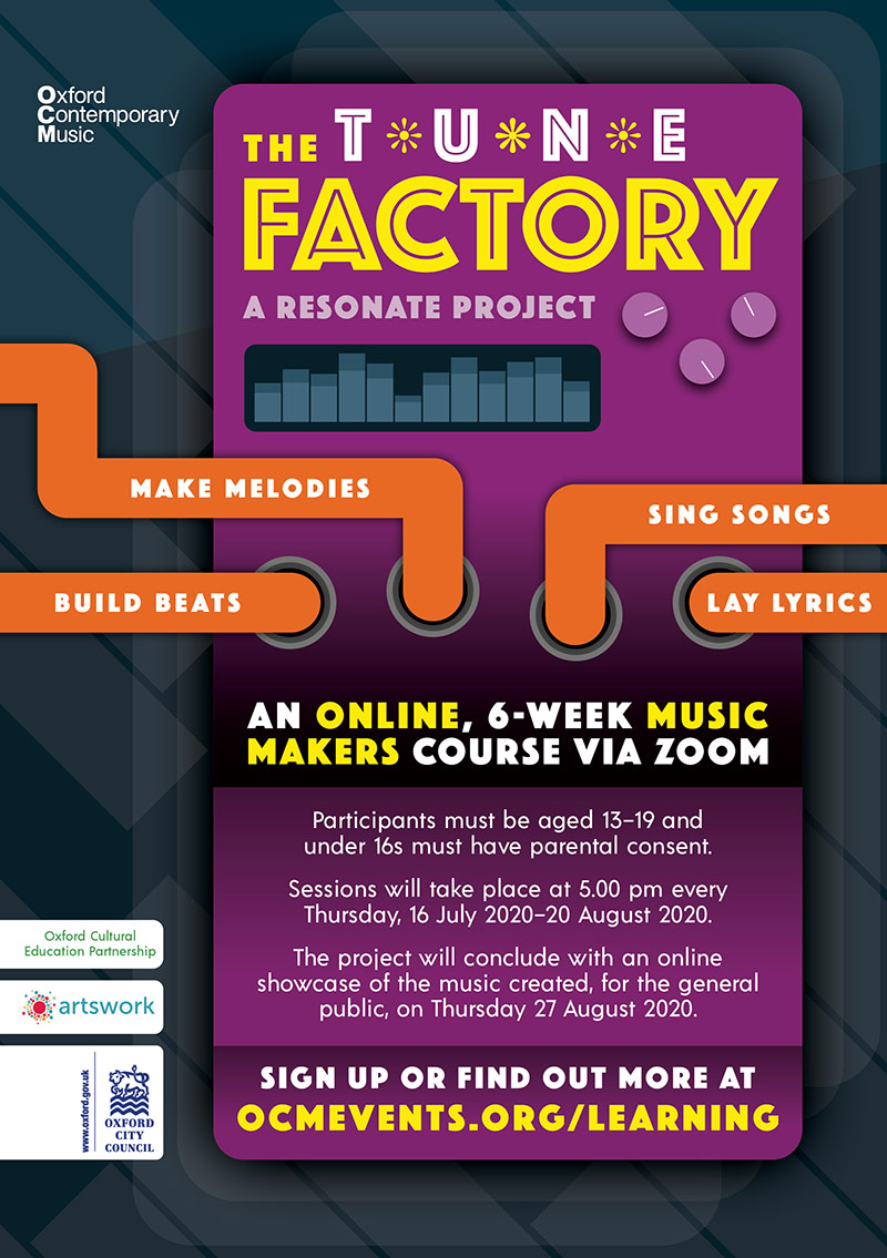 The Tune Factory flyer design