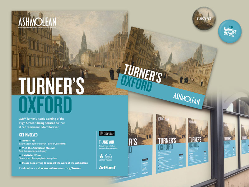 Ashmolean 'Turner's Oxford' campaign artwork