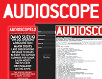 Audioscope logo, website and print advert