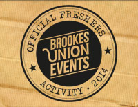 Brookes Union freshers 2014 campaign artwork