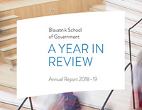 Blavatnik School of Government Annual Report 2018–19