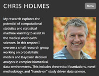 Professor Chris Holmes website