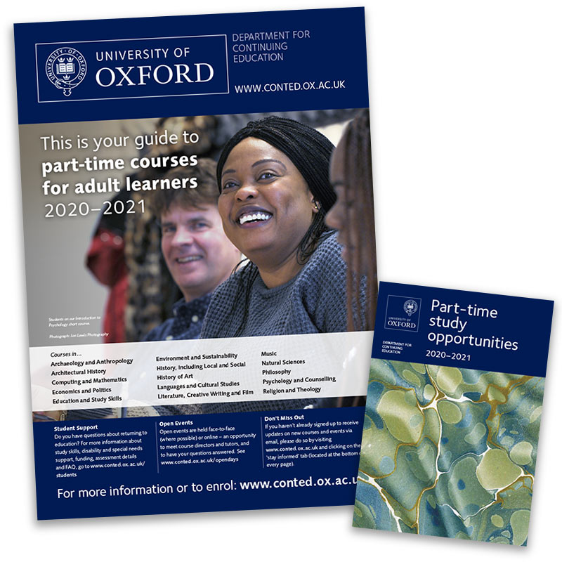 University of Oxford Continuing Education recruitment materials – covers