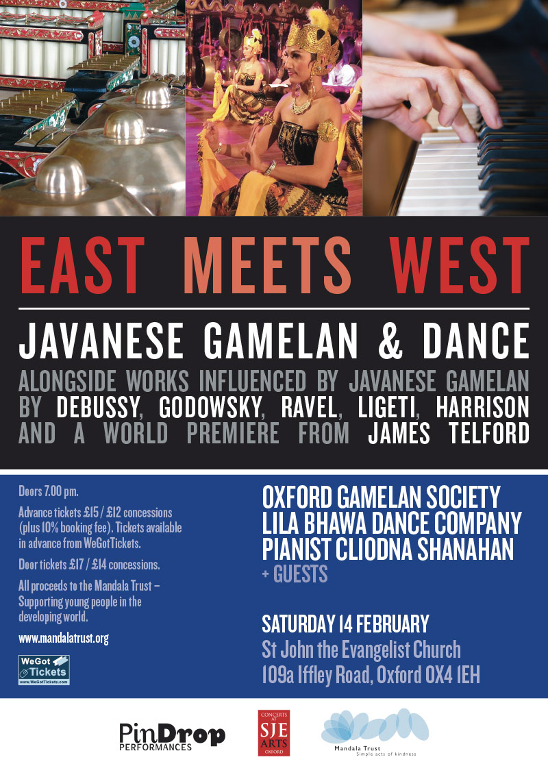 East Meets West Javanese Gamelan Dance Concert Poster