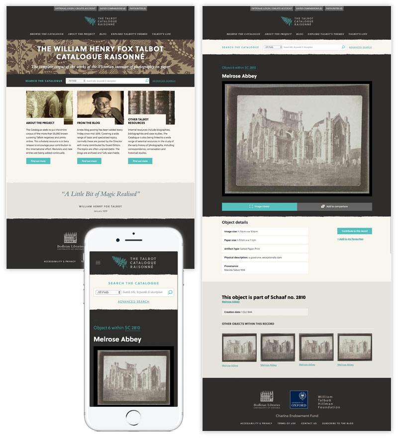 Bodleian Libraries William Henry Fox Talbot Catalogue Raisonné website