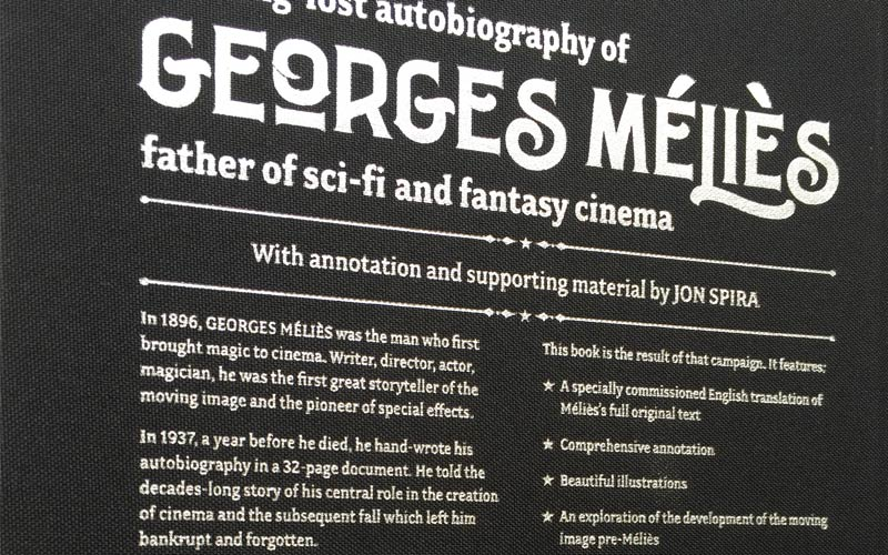 The Long-Lost Autobiography of Georges Méliès book design – 3 of 4