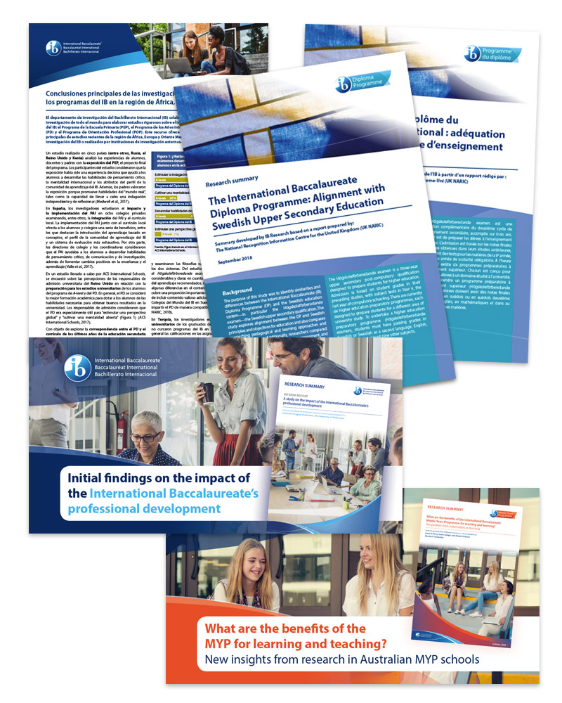 International Baccalaureate reports and sharing graphics