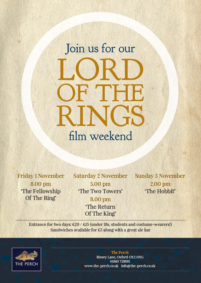 Lord Of The Rings weekend poster
