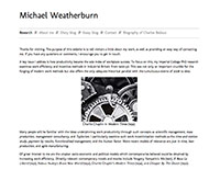 Michael Weatherburn website