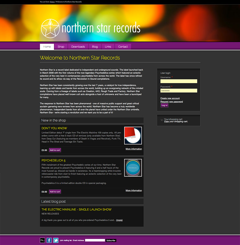 Northern Star Records website