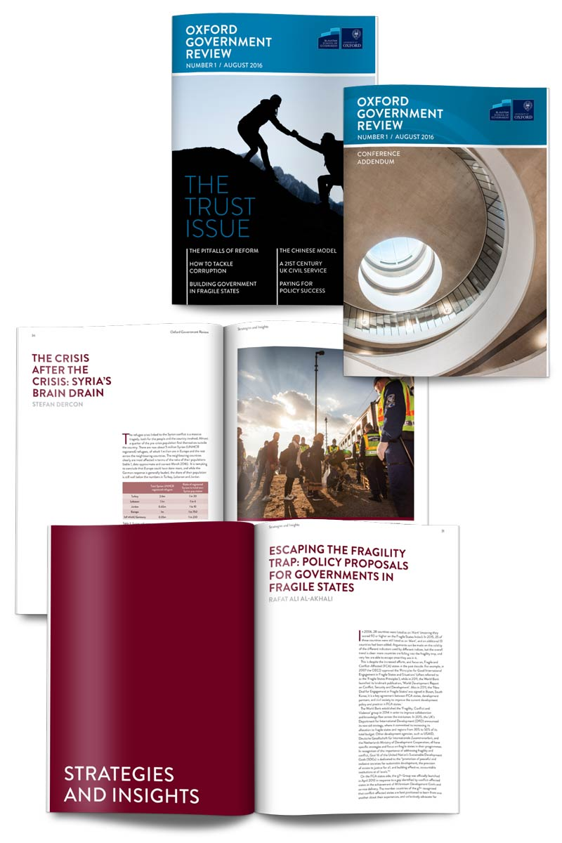 Oxford Government Review publication design