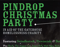 PinDrop Christmas Party 2014 poster