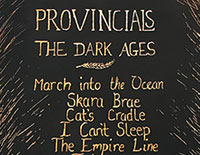 Provincials 'The Dark Ages' album artwork