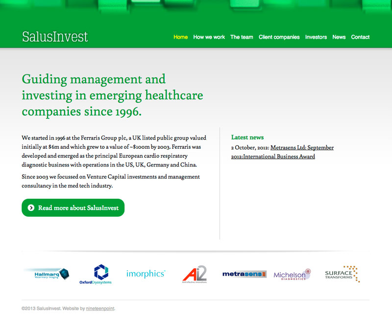 SalusInvest website