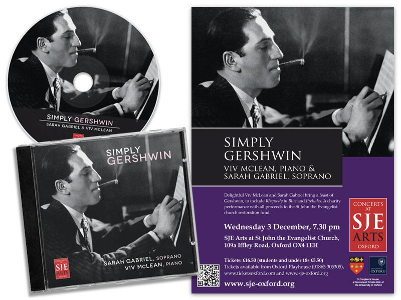 Simply Gershwin CD packaging and poster