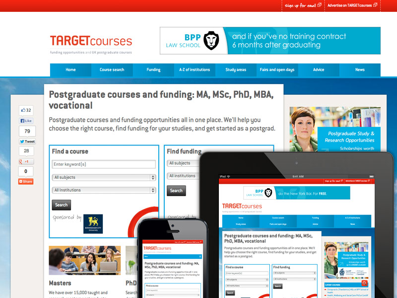 TARGETcourses website