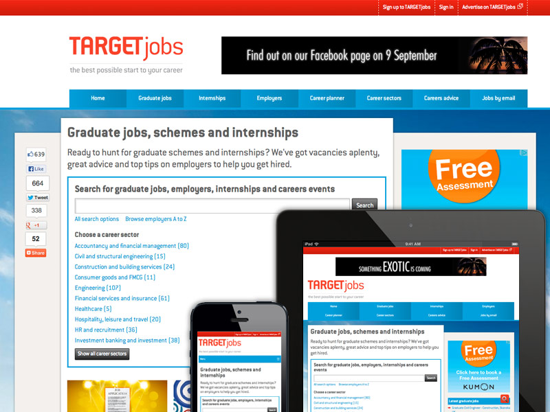 TARGETjobs website