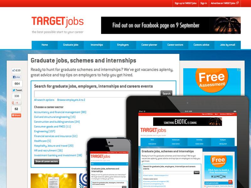 TARGETjobs website