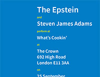 The Epstein / Steven James Adams poster