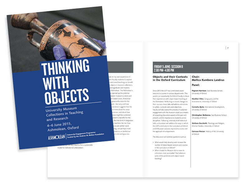 Ashmolean 'Thinking With Objects' colloquium programme