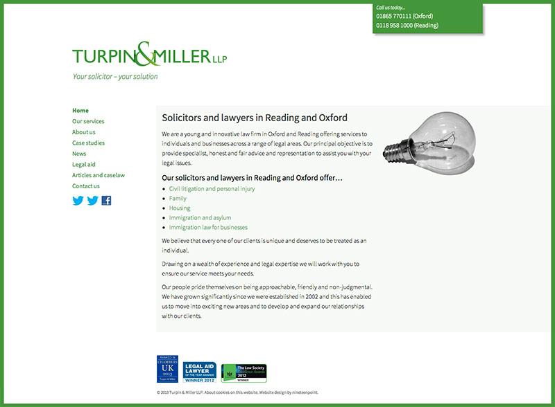 Turpin & Miller LLP website