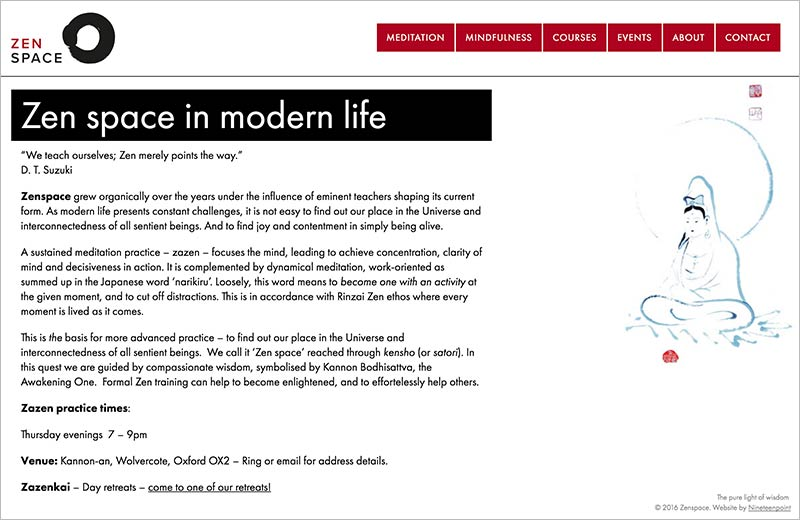 Zenspace website